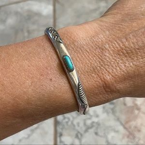 Native American Sterling Turquoise Bracelet